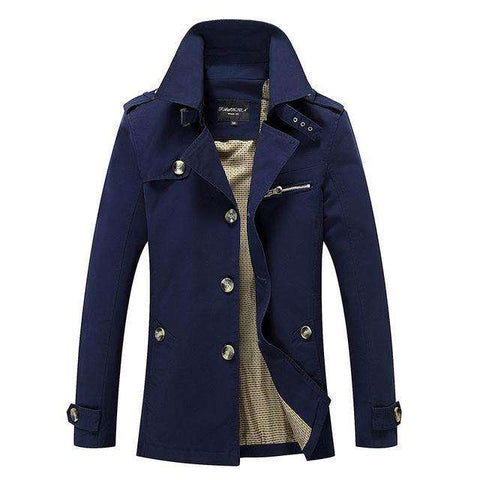 Leisure Single Breasted Turn Down Collar Jacket - WS-Jackets