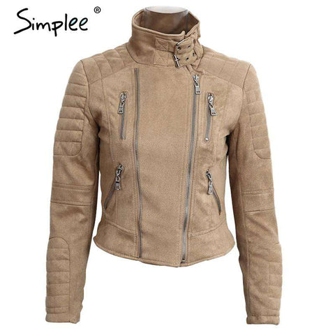 Faux Leather Suede Jacket - WS-Jackets