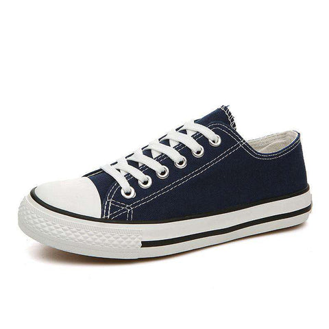 White Canvas Casual Basket Shoes