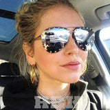 Luxury Oversized Aviator UV400 Retro Designer Big Frame Sun Glasses - Wear.Style