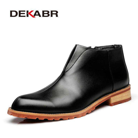 High Quality Comfortable Ankle Genuine Leather Boots - Wear.Style