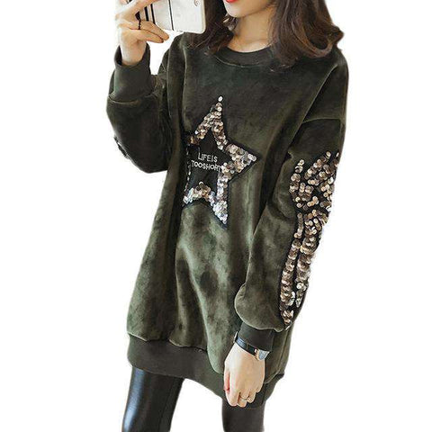 O-neck Star Print Sweatshirts - Wear.Style