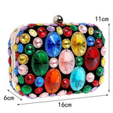 Acrylic Beaded Chain Shoulder Small Purse Clutches