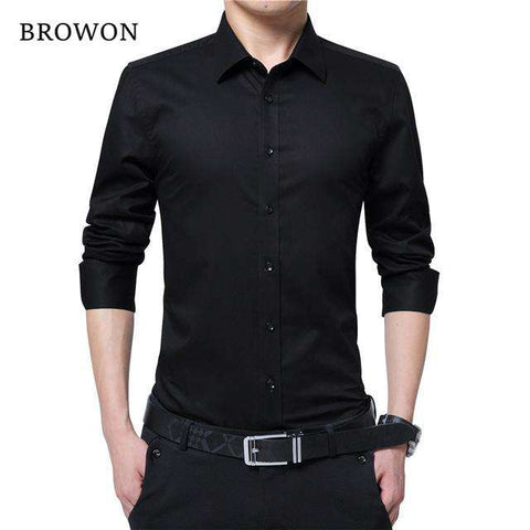 Long Sleeve Social Turn-neck Shirt