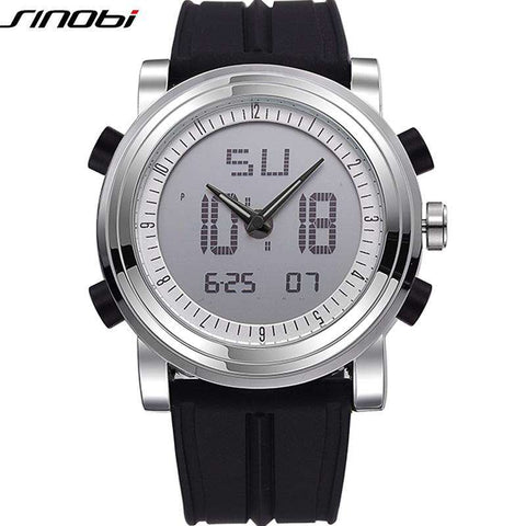 Multifunctional Digital Sports Waterproof Rubber Military Quartz Watch
