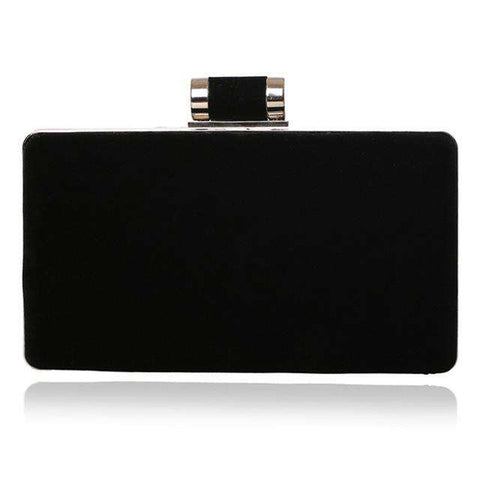 Chain Shoulder Velvet  Small Clutch