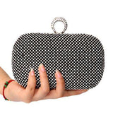 Bow Metal Diamonds Chain Shoulder Messenger Bags Handbags Clutches