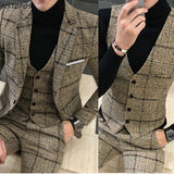 3 Piece Tweed Slim Fit Suit