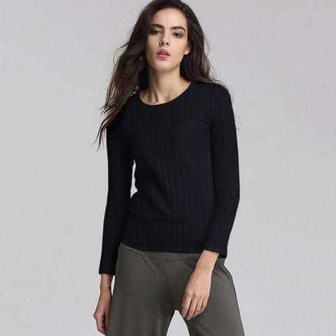 Elastic Slim Warm Tight Knitted Pullover