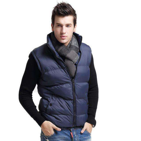 Sleeveless Mandarin Collar Slim Warm Jacket - Wear.Style
