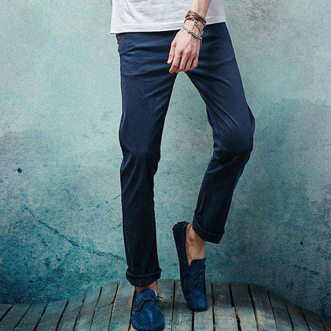 Slim Straight Cotton Full Length Jeans
