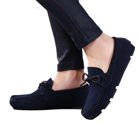 Casual Suede Leather Moccasins Slip On Shoes