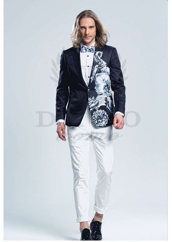 Printed Slim Fit  Trend Fashion Luxury Blazer
