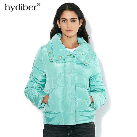 High Collar Slim Warm Jacket - WS-Jackets