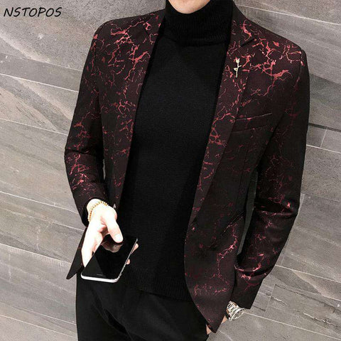 Printed Slim Fit Stylish Blazers
