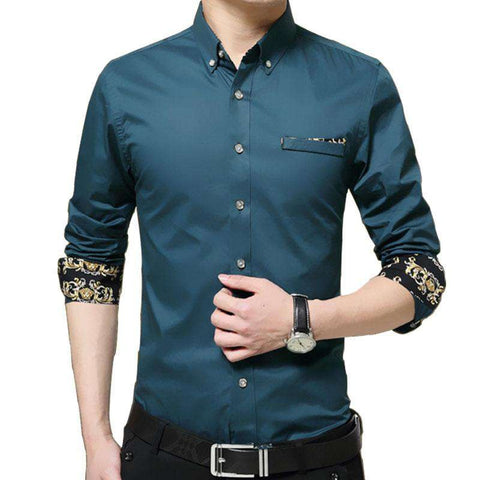 Long Sleeve 100% cotton Slim Fit Shirt - Wear.Style
