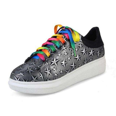 Flats Shoes Casual Fashion Colourful Lace-Up