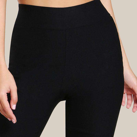 Skinny Black High Waist Long Casual Pants