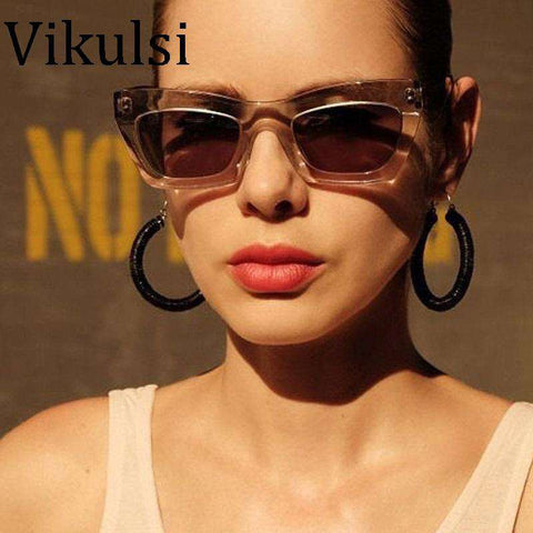 Cat Eye Big Size Frame Gradient Sunglasses - Wear.Style