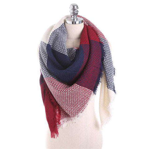 Luxury Stitching Plaid Scarf