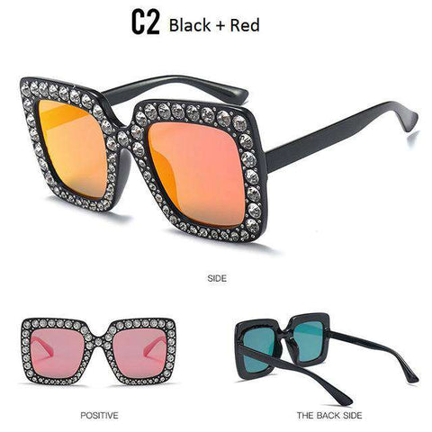 Luxury Cat Eye Designer Diamond Sun glasses - Wear.Style