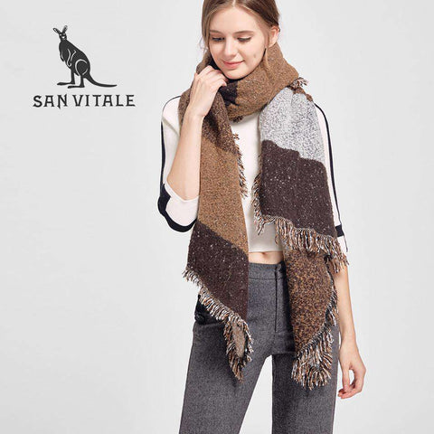 Warm Luxury Soft Plaids Cashmere Scarf