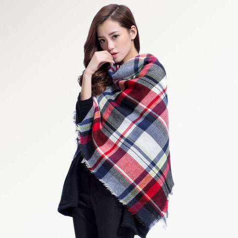 High quality plaid Soft Winter scarf - Wear.Style