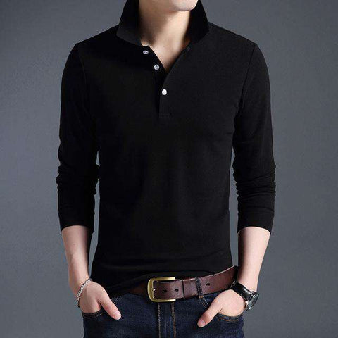 Top Grade Slim Fit Long Sleeve Cotton Casual Tees