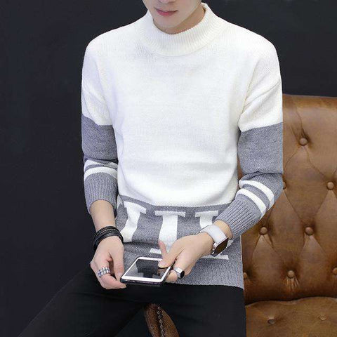Fashion Men's High-Necked Sweaters Pullover - Wear.Style