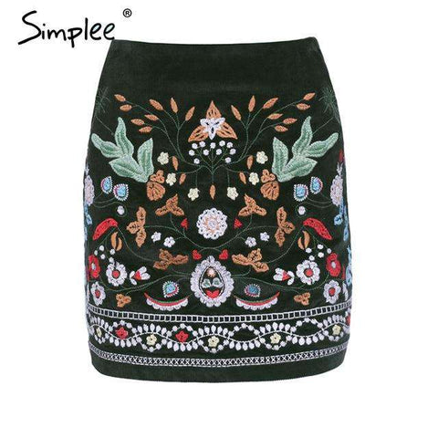 High Waist Short Boho Style Chic Pencil Skirt