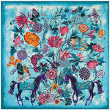 Pure Silk Large Tree Print Square Scarf - Wear.Style