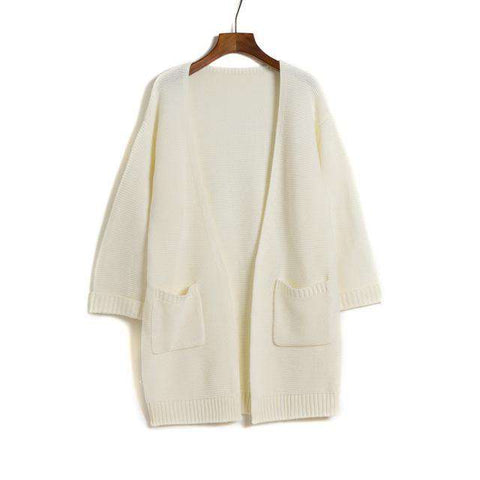 Long Knitted Cardigan - Wear.Style
