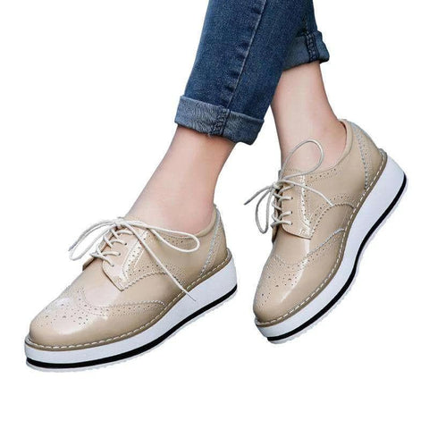Patent Leather Lace Up Shoes - Wear.Style