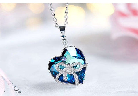 Swarovski Crystals Heart Shaped Pendant Necklace
