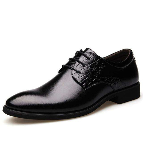 Oxford British Business Pointed Toe Leather Shoes