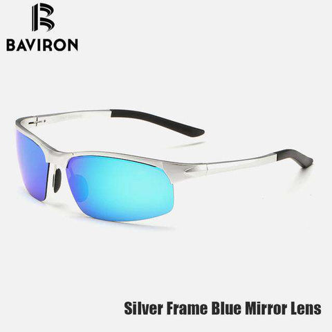 Al-Mg Alloy Mirror Polaroid Lenses  Designer Flexible Cool UV400 Sunglasses - Wear.Style : Sunglasses