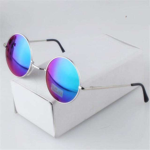 Round Gold Vintage Circle Sunglasses