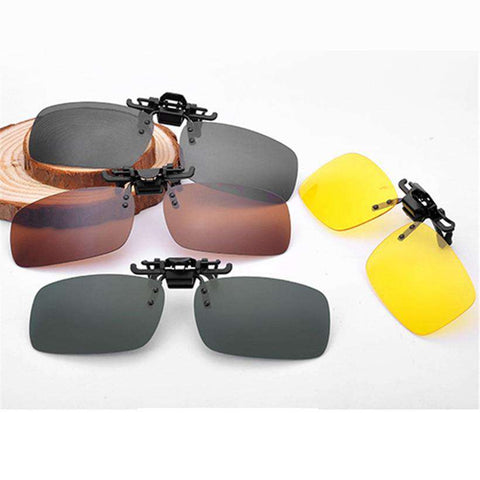 Day and Night Driving Polarised Clip Myopia UV400 Designer Sunglasses