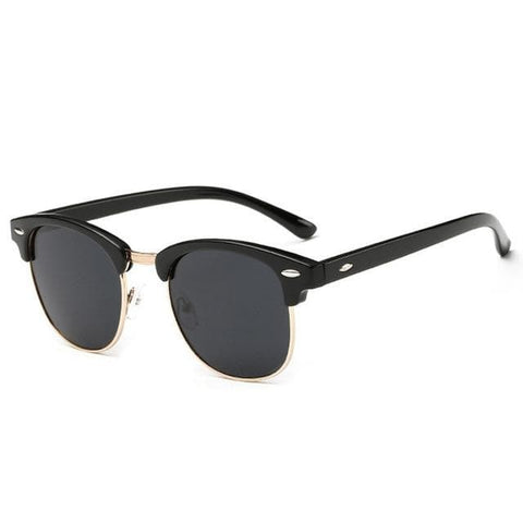 Retro Metal Frame Designer Polarized Sunglasses