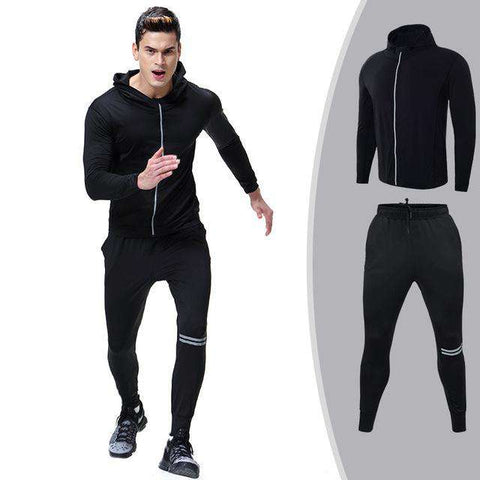 Men Sportswear Set Casual Tracksuits Track Suit Hoodies Pants Fitness Outwear