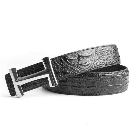H Buckle Crocodile High Quality Genuine Real Leather Belt