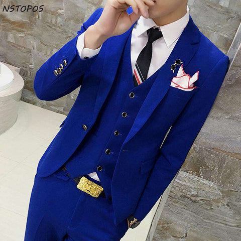 Single Brest Slim Fit Party Suit
