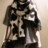 Cows Markings Leisure Wild Leopard Scarf