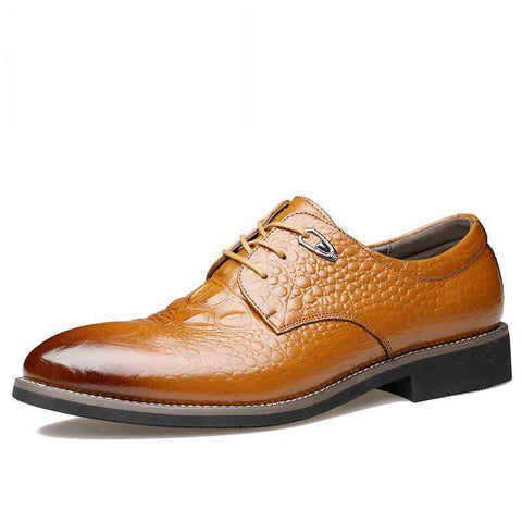 Genuine Leather Oxford Crocodile Leather Shoes