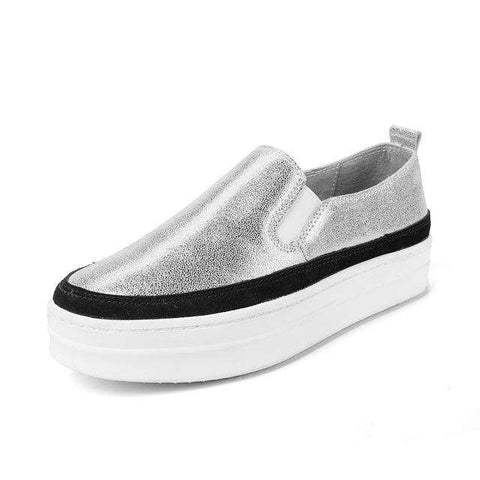 Suede Leather Slip On Shoes