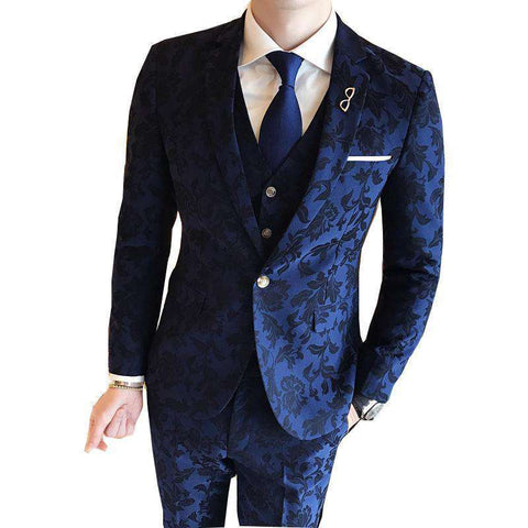 Floral High Quality Baroque Vintage Party Suits