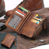 Genuine Leather vertical card holder Wallet