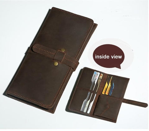 Genuine Leather Long style Wallet