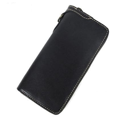 Genuine Leather Long Clutch Wallet Money Holder