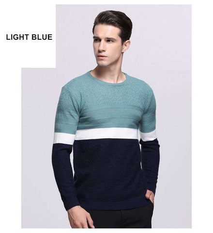 Cashmere Cotton O-Neck Pullover